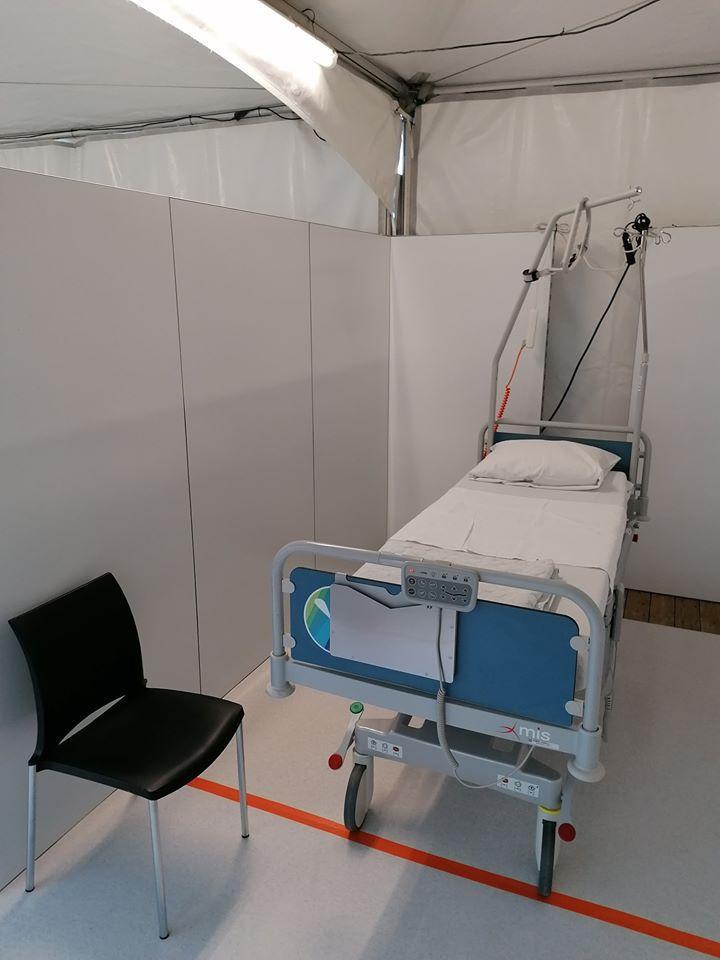 Creaplan stelt 2 kilometer mobiele wanden ter beschikking van ziekenhuizen en woonzorgcentra