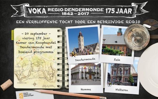 Voka viert 175 jaar Kamer van Koophandel in regio Dendermonde