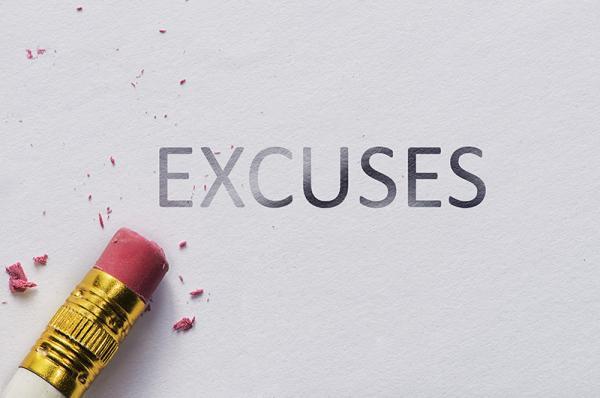 Geen excuses meer