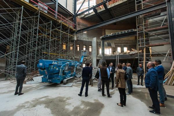 Real Estate Community (REC) op werfbezoek bij De Warande in Turnhout