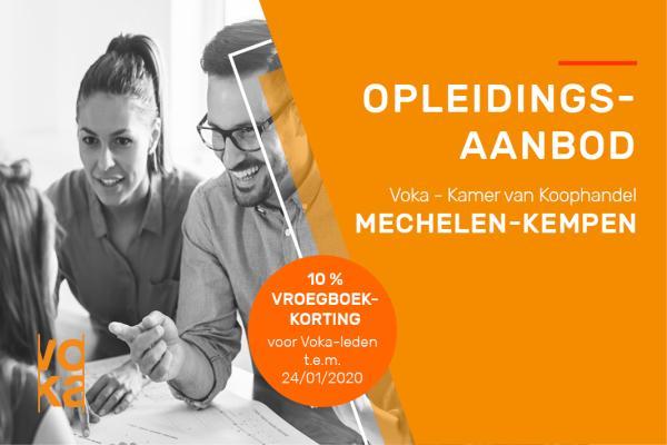 Nieuw opleidingsaanbod bij Voka - Kvk Mechelen-Kempen