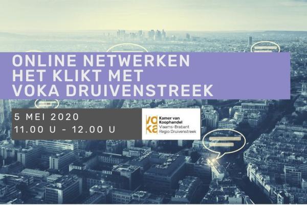 Online netwerken het klikt Voka Druivenstreek 5 mei 2020