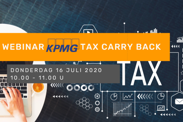 Online infosessie KPMG - Tax carry back