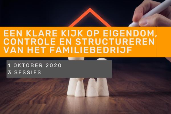 Een klare kijk op eigendom, controle en de (financiële) structureren van het familiebedrijf