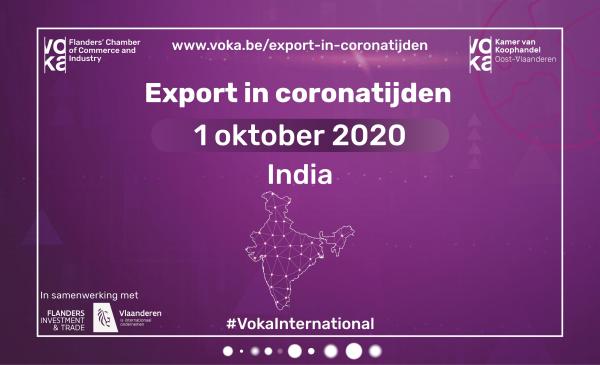 Export in coronatijden: India