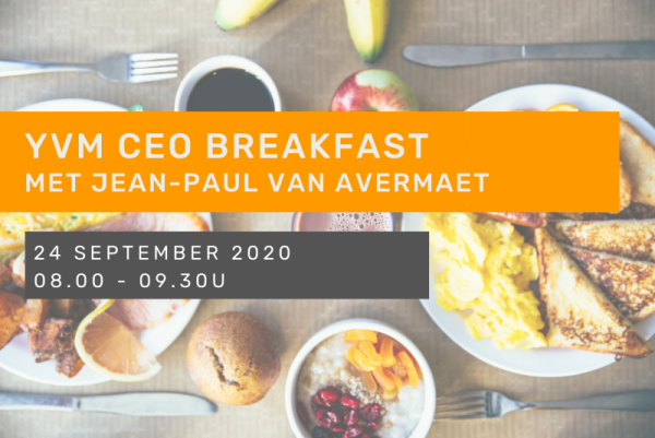 YVM CEO Breakfast met Jean-Paul Van Avermaet