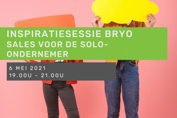 Inspiratiesessie Bryo: Sales voor de solo-ondernemer