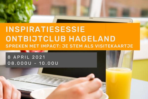 Inspiratiesessie - Ontbijtclub Hageland: Spreken met impact: je stem als visitekaartje.