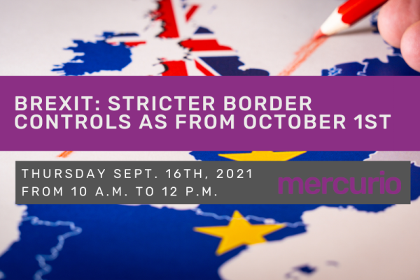 Brexit: stricter border controls as from October 1st