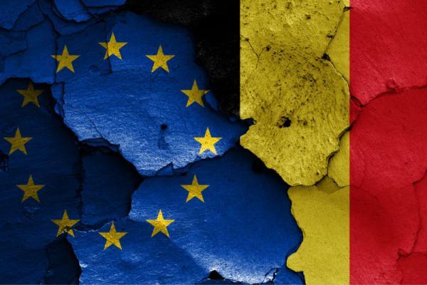 Europese en Belgische vlag vermengd