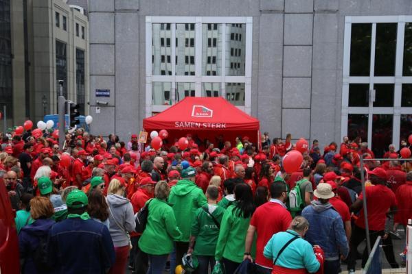 Betoging in Brussel vanwege de pensioenhervorming