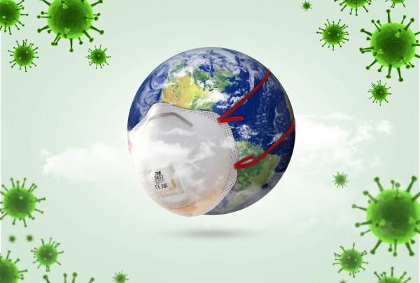 Coronavirus wereldbol