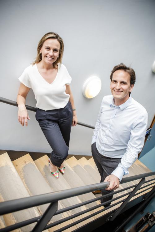 Eva Benijts (Managing Director) en Tom Benijts (Gedelegeerd Bestuurder Laboratorium ECCA)