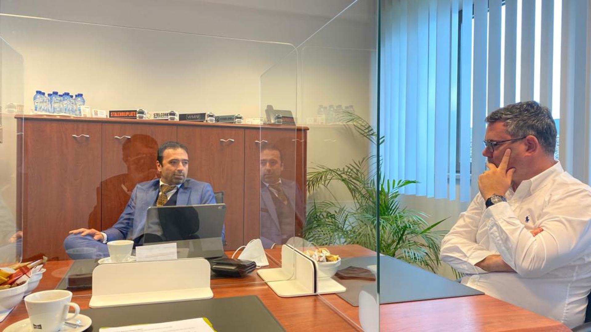 Verwelkoming op kantoor Viamar in Temse