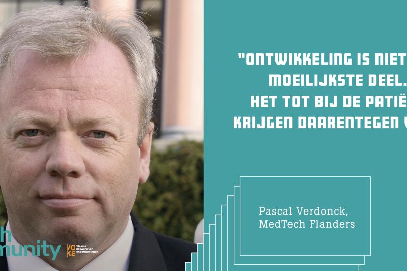 Pascal Verdonck CEO MedTech Flanders