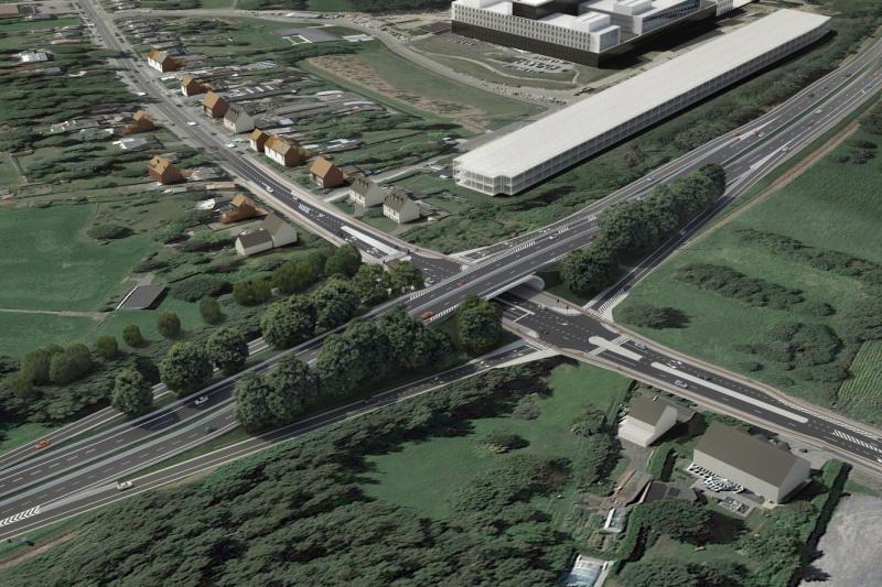 Wegenwerken R6-Antwerpsesteenweg