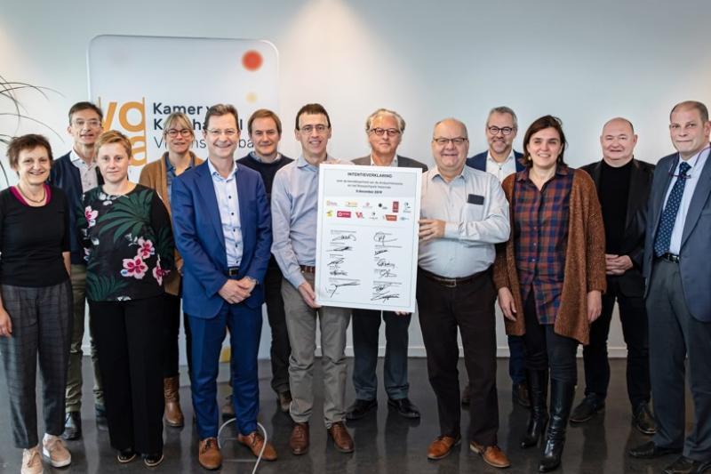 Twaalf partnerorganisaties streven naar een beter bereikbaar bedrijventerrein Haasrode