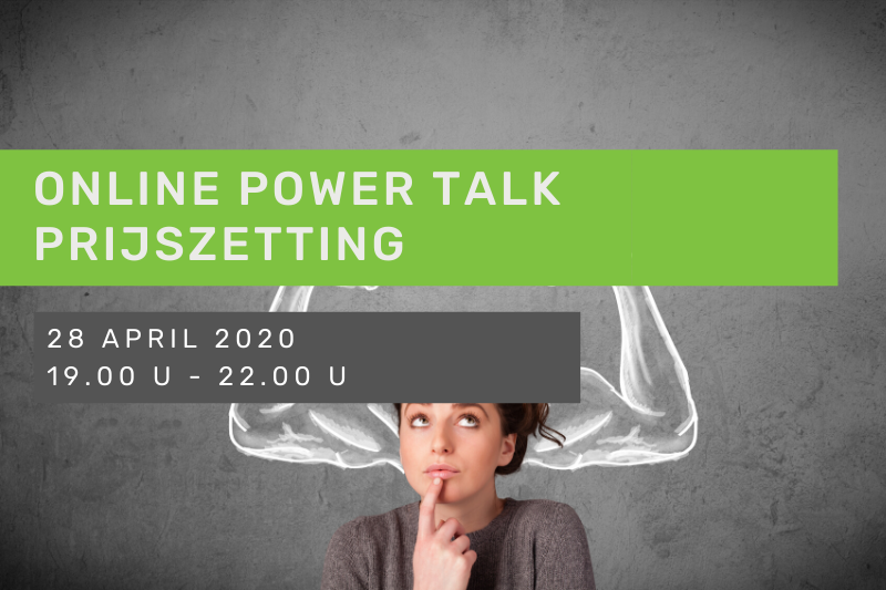 Online Power Talk: Prijszetting dynamische workshop bryo