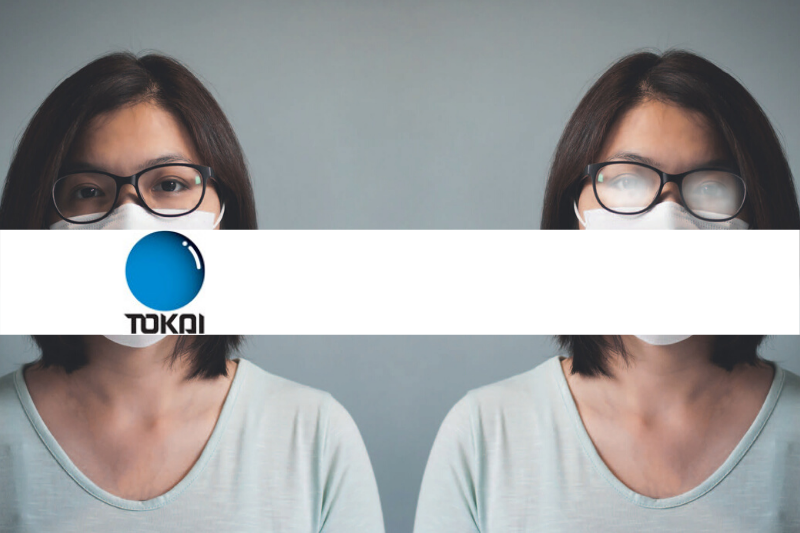 Brilglazen die niet meer aandampen als je mondmasker draagt dankzij Tokai Optecs Tienen