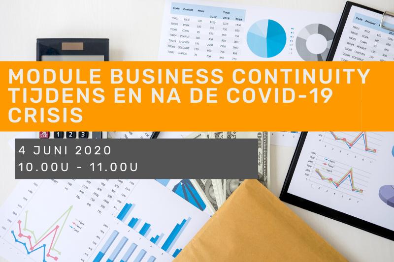 Module Business Continuity tijdens en na de covid-19 crisis: hoe begin ik aan mijn business plan?