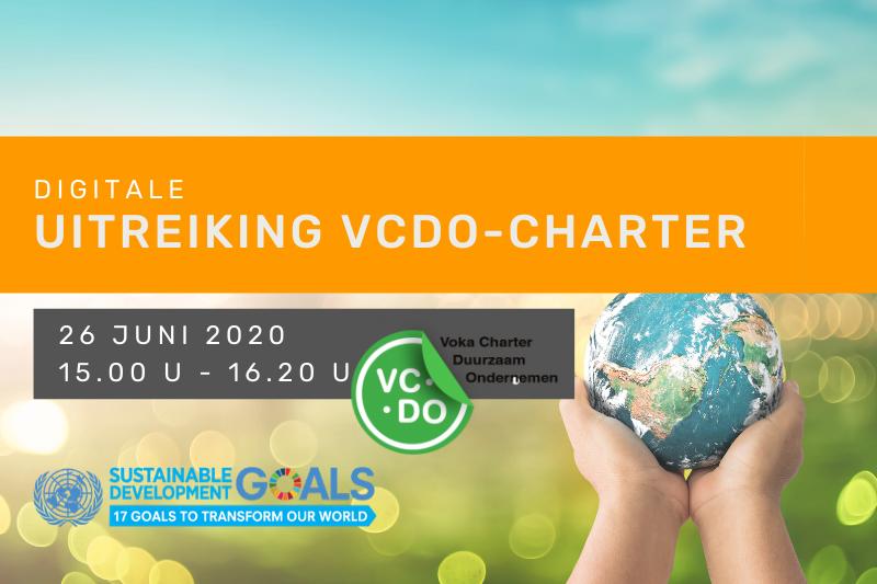 Digitale uitreiking Voka Charter Duurzaam Ondernemen