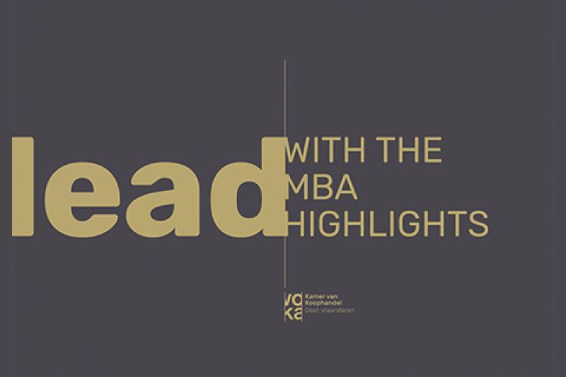 MBA Highlights 2020 - online infosessie 29 juli 2020