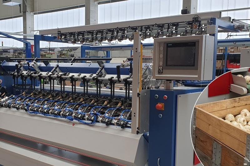 De bollenwindmachine maakt volautomatische productie mogelijk