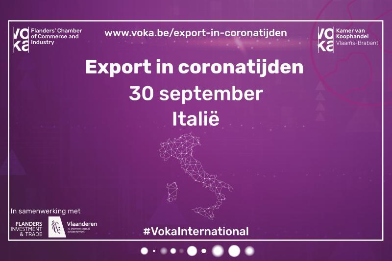 Export in Coronatijden: Zakendoen met Italië
