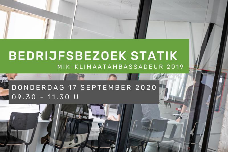 Bedrijfsbezoek Statik: miK-Klimaatambassadeur 2019