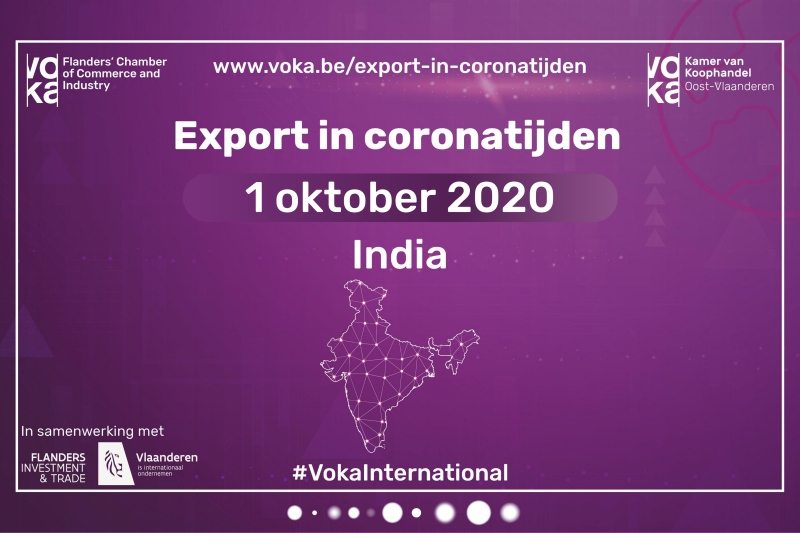 Export in coronatijden: India