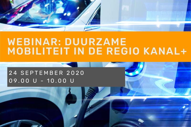 Webinar: Duurzame mobiliteit in de regio Kanal+