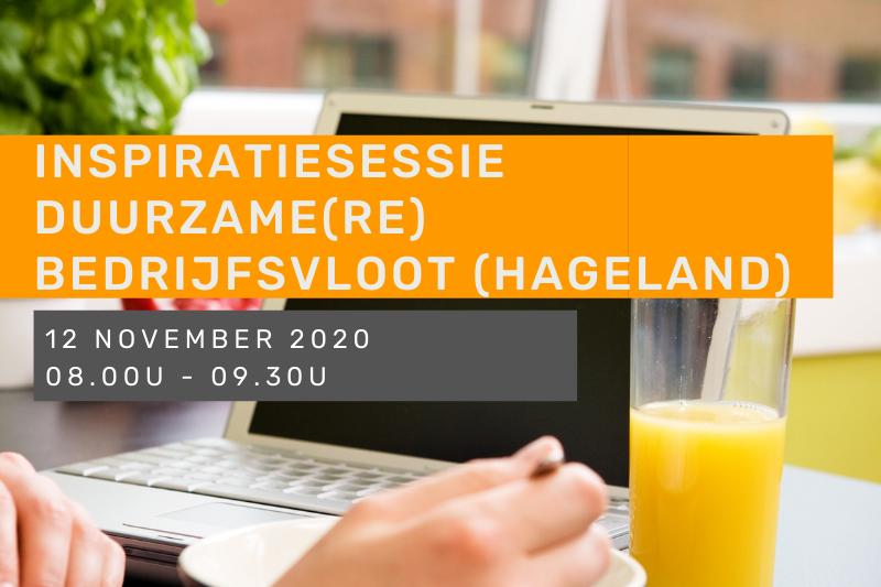 Inspiratiesessie Duurzame(re) bedrijfsvloot - Hageland