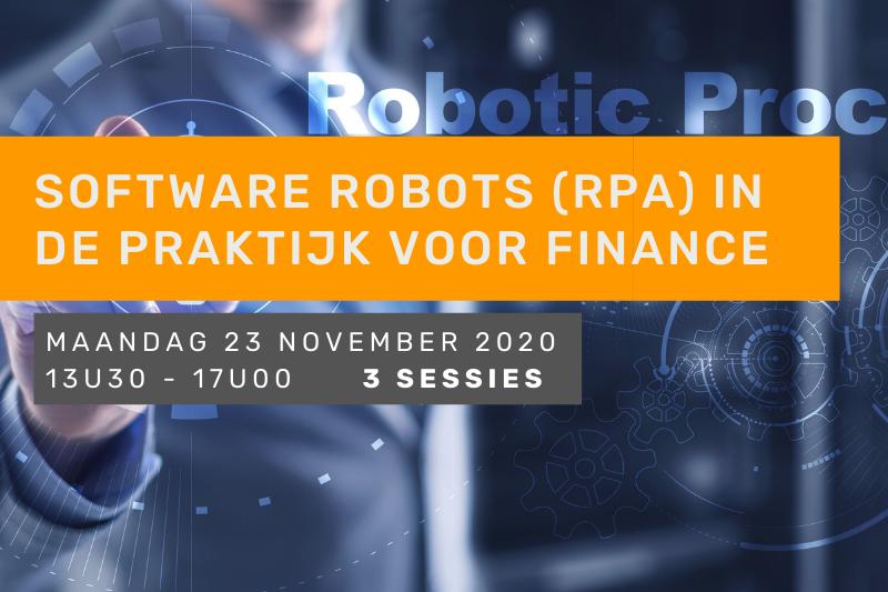Software robots (RPA) in de praktijk voor finance