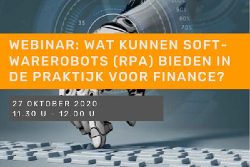 Wat kunnen softwarerobots (RPA) bieden in de praktijk voor finance?