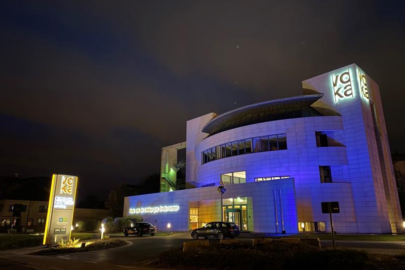 'Huis van de Limburgse Ondernemer' kleurt blauw voor de Verenigde Naties