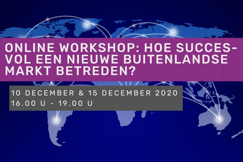 Online workshop: hoe succesvol een nieuwe buitenlandse markt betreden