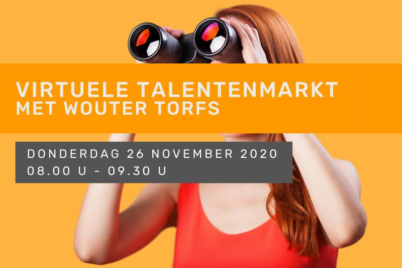 Virtuele talentenmarkt met Wouter Torfs