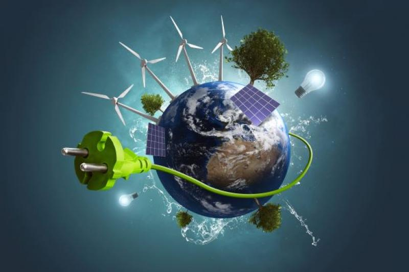 wereldbol groene energie