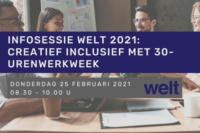 Infosessie Welt 2021: Creatief inclusief met 30-urenwerkweek - Ervaringsuitwisseling met Femma