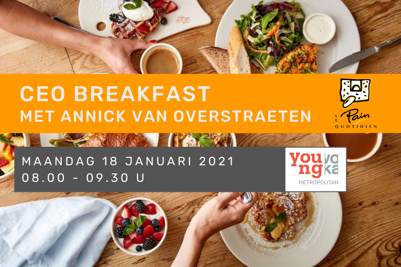 YVM CEO Breakfast met Annick Van Overstraeten, Le Pain Quotidien