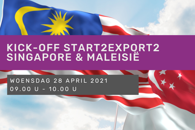 Kick-off Start2Export2 Singapore & Maleisië