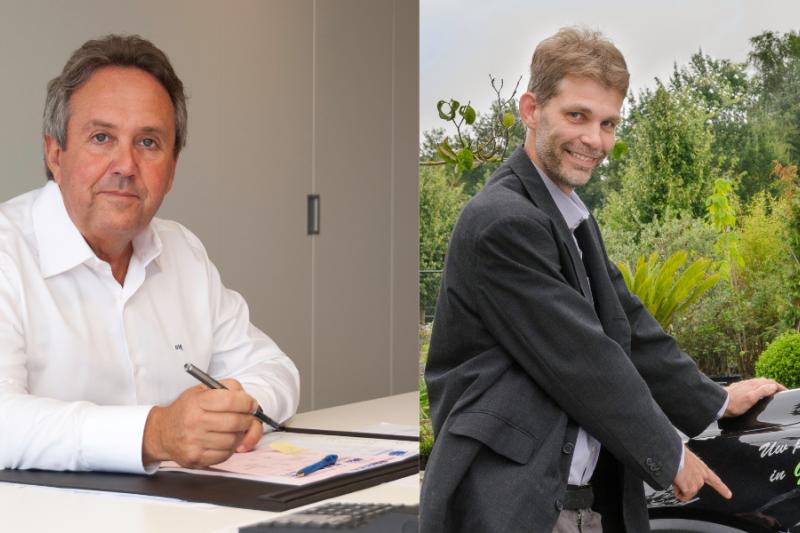 Willy Reynders en Piet Rietveld