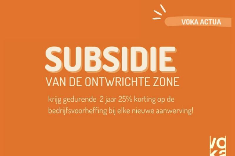 subsidie ontwrichte zone