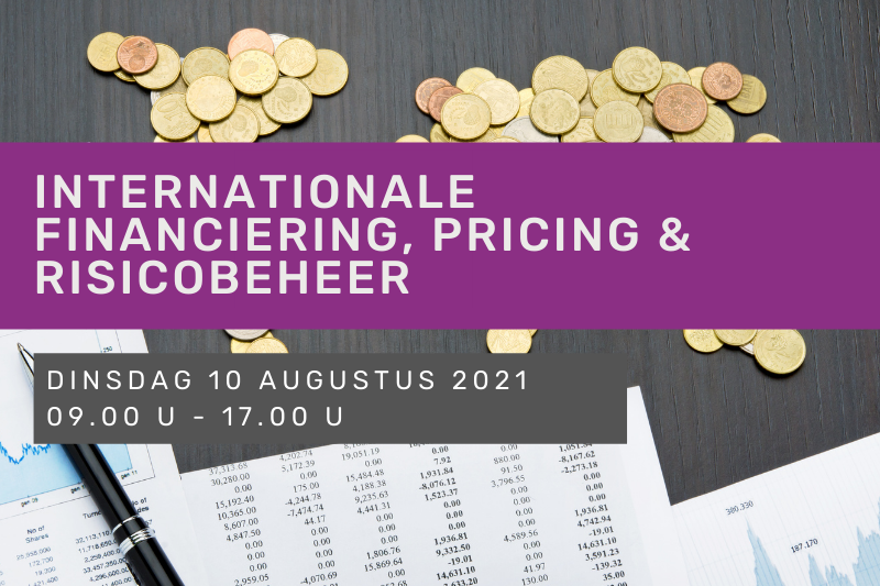Internationale financiering, pricing & risicobeheer