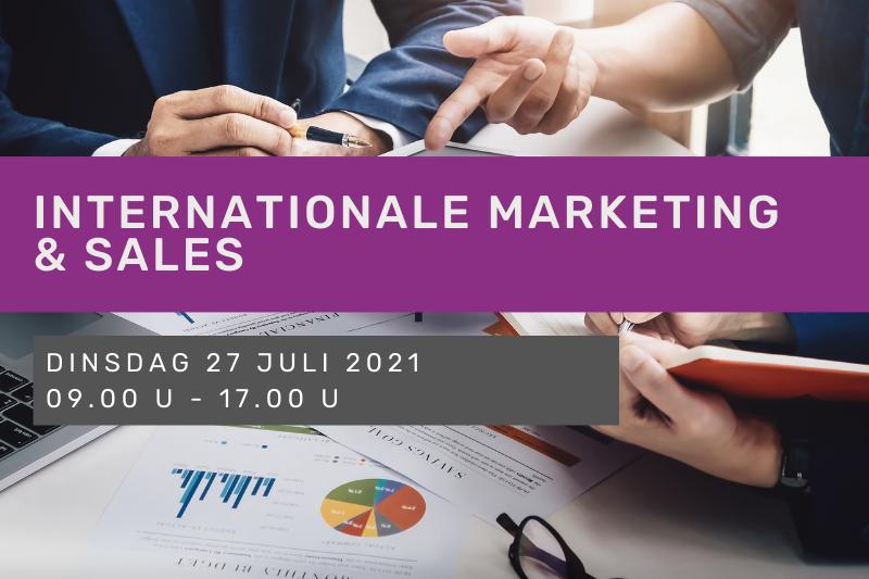 Internationale marketing & sales