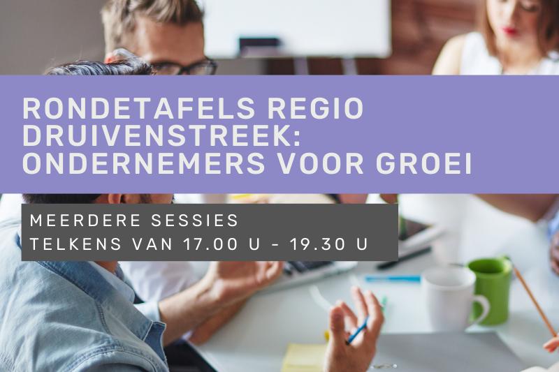 Rondetafels regio Druivenstreek: ondernemers voor groei