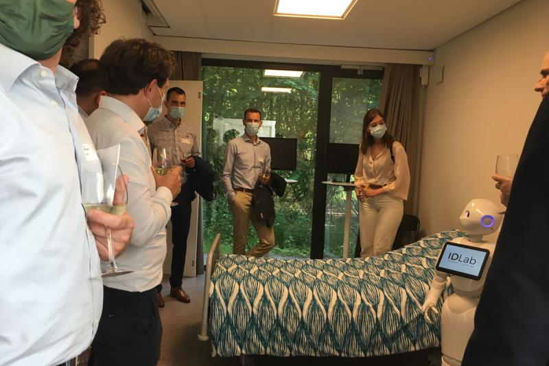 Ondernemers gingen al op bezoek in de Digihub IDLab