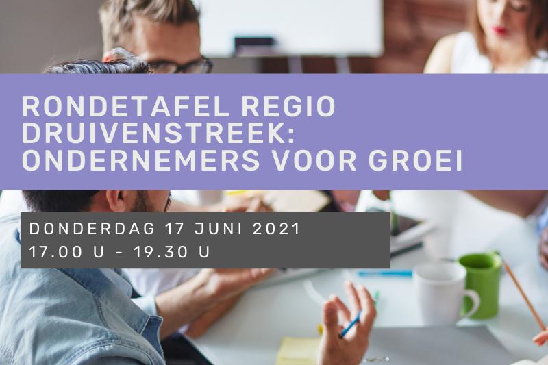 Rondetafel regio Druivenstreek: ondernemers voor groei