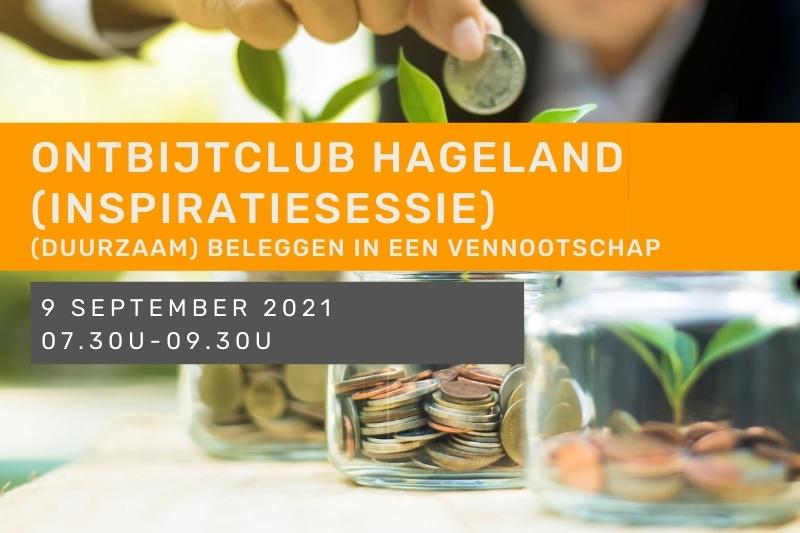 Inspiratiesessie - Ontbijtclub Hageland -  (Duurzaam) Beleggen in een vennootschap