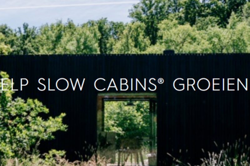 Crowdfunding campagne Slow Cabins